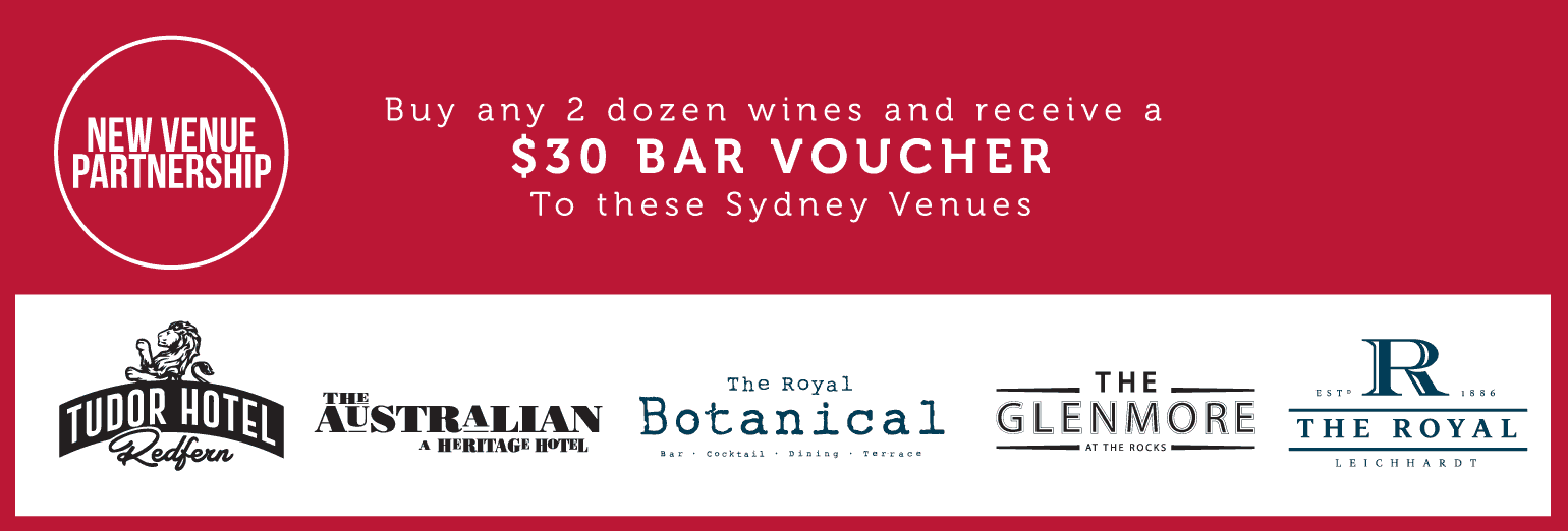 Free $30 Bar Voucher with any 24 bottles of wine purchased